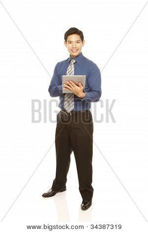 Mann mit einem Tablettcomputer