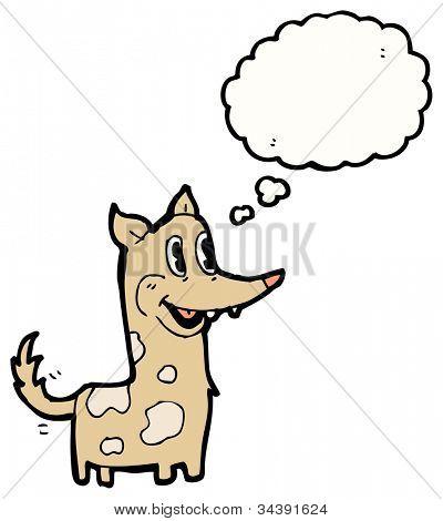dog wagging tail cartoon