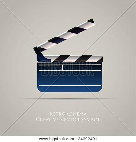 Cinema Film Clap Board Vector Icon