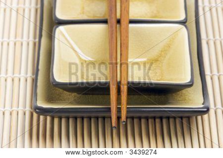 Abstract Chopsticks And Bowls