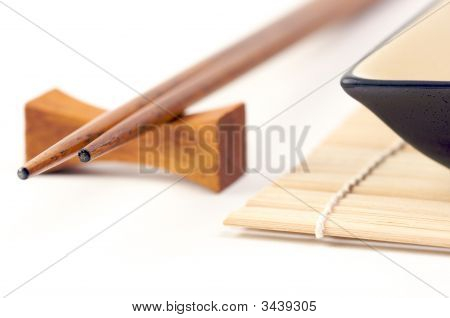 Abstract Chopsticks And Bowls
