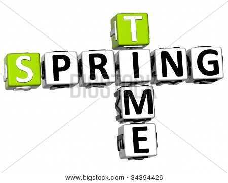3D Spring Time Crossword