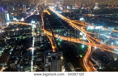 Night City View From The Baiyoke Hotel