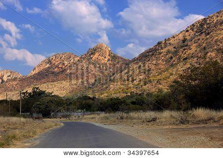 Tar Road Large Mountains