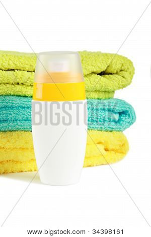 Sun Lotion With Towels
