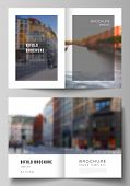 Vector Layout Of Two A4 Cover Mockups Design Templates For Bifold Brochure, Flyer, Cover Design, Boo poster