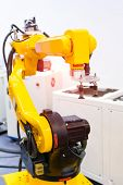Automation system of robot arm in smart manufacturing factory poster