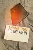 Writing Note Showing Thank You See You Again. Business Photo Showcasing Appreciation Gratitude Thank poster