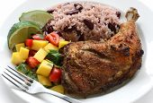image of jamaican  - jerk chicken plate - JPG