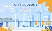 City Ecology Protection By Eco Friendly Electric Railway Usage. Ecological Passenger Train On Magnet poster