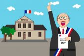 French Municipal Elections. Illustration Text: Municipal Election (in French) poster