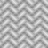 Vector Seamless Pattern. Infinitely Repeating Modern Geometrical Texture Consisting Of Intersecting  poster