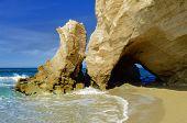 Azure Window, Sea Cave In Tuff Rock. Italy, Calabria Coast Of Gods, Tropea poster