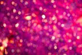 Abstract Background With Magenta Glitter Bokeh Lights. poster