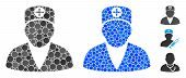 Medic Person Composition Of Round Dots In Different Sizes And Color Tinges, Based On Medic Person Ic poster