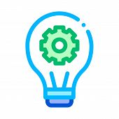 Machine Learning Artificial Intelligence Vector Icon Sign Thin Line. Artificial Intelligence Details poster