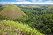 foto of chocolate hills  - Amazing Chocolate Hills in Bohol Visayas Philippines - JPG
