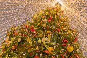 New Year Decoration In Moscow. Christmas Tree In The City Center. New Year Vacations. I Travel Aroun poster