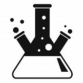 Test Lab Flask Icon. Simple Illustration Of Test Lab Flask Vector Icon For Web Design Isolated On Wh poster