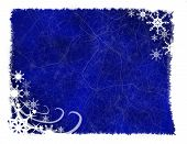 Blue & White Snowflake Background