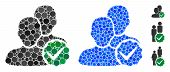 Boys Only Mosaic Of Round Dots In Different Sizes And Shades, Based On Boys Only Icon. Vector Dots A poster