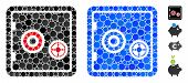 Bank Safe Mosaic Of Small Circles In Variable Sizes And Color Tinges, Based On Bank Safe Icon. Vecto poster