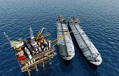 stock photo of rework  - Oil production in the sea - JPG