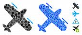 Propeller Aircraft Mosaic Of Round Dots In Variable Sizes And Color Hues, Based On Propeller Aircraf poster