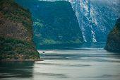 Famous Norwegian Fjords Landscape. Norway, Europe. Summer Vacation Destination. poster