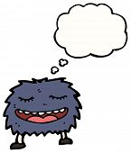 cartoon funny furry monster poster