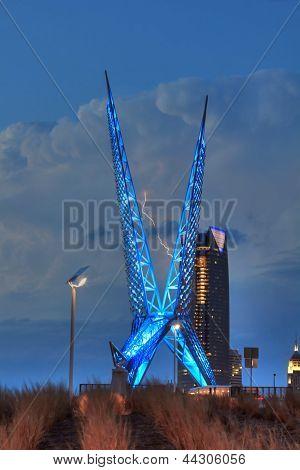 Oklahoma City SkyDance Bridge Lightning