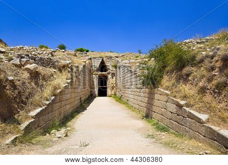 Treasury In Mycenae Town, Greece