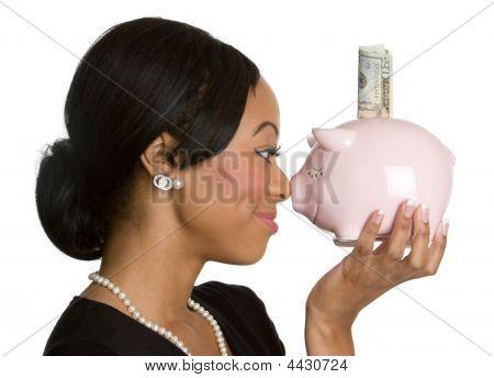 Piggy Bank Lady