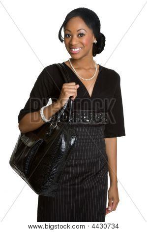 schwarz geschäftsfrau