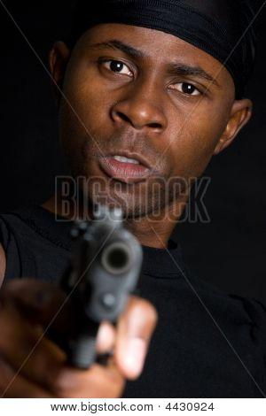 Black Gun Man