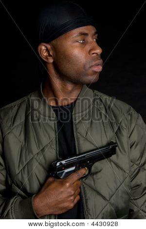 Pistola negro chico