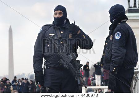 Police At Obama Inauguration