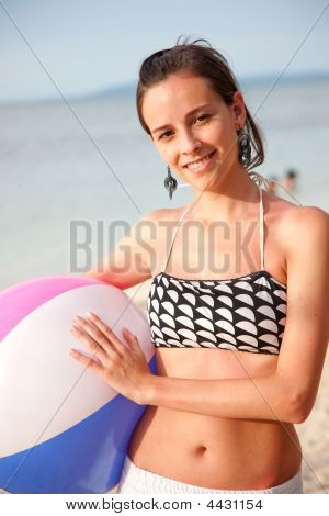 Beach Girl Portrait