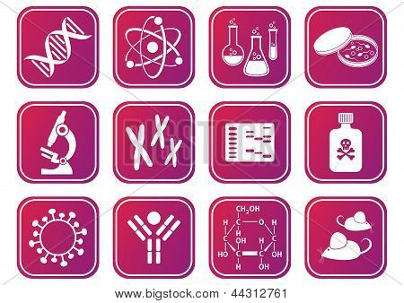 Biologie Science pictogrammen