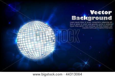 ilustração de purpurina bola de discoteca em abstrato