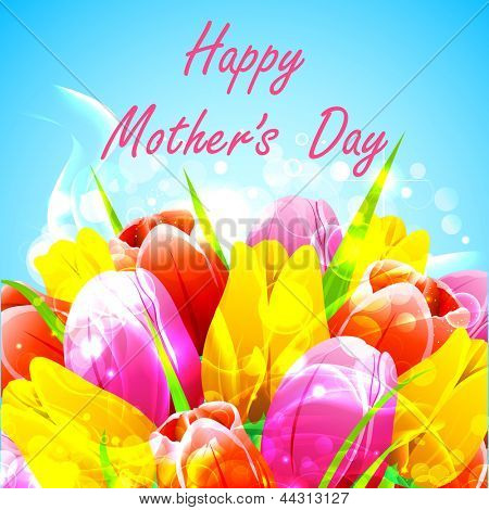 illustration of bunch of tulip in Happy Mother's Day
