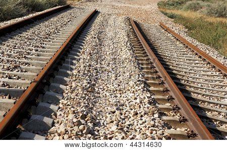 Train Rails Under Construction