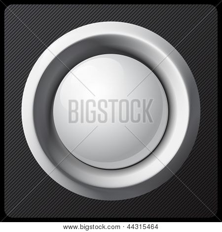 White shaded plastic button vector template