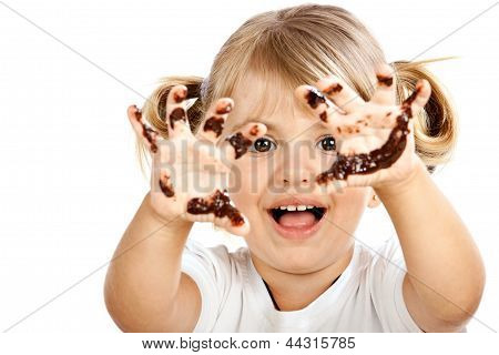 Small Girl With Chocolate