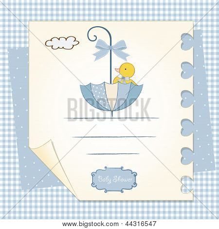 Baby Shower Card With Umbrella