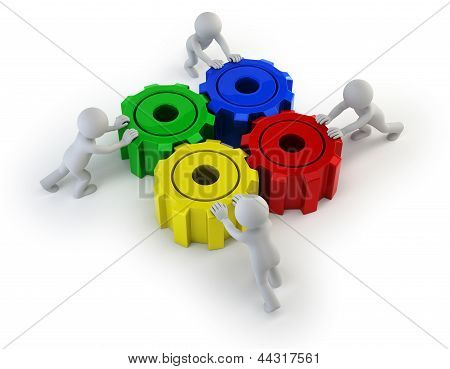 3D Small People - Big Gears Turned