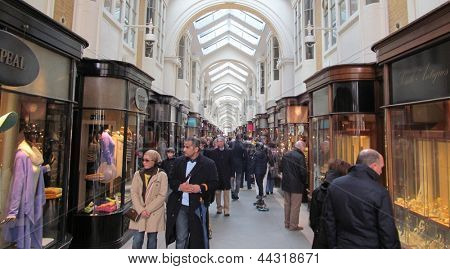 LONDON - APRIL 6: Londons, Burlington arcade, the worlds first covered shopping hall, as been acquired by 2 unnamed companys who wish to change the design of this historic area. LONDON, APRIL 6, 2013
