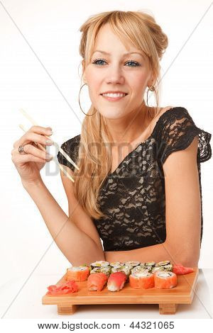 Young Woman With Chopsticks