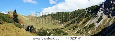 Hike on the Saalfeld-High-Mountain-Trail in Tyrol, Austria