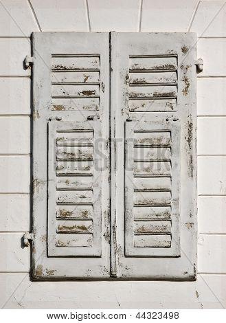 Old White Window
